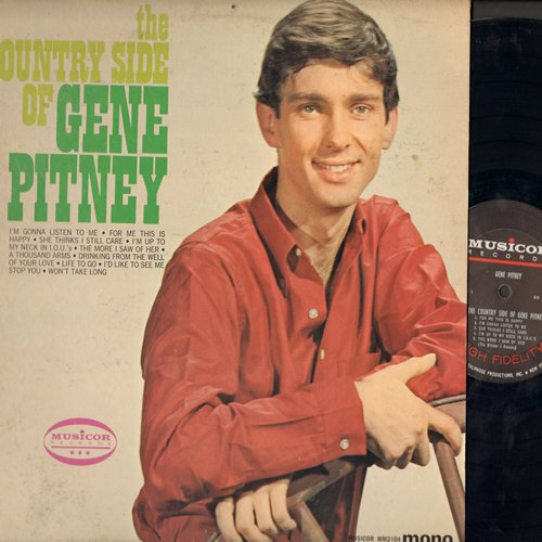 Pitney, Gene - The Country Side of Gene Pitney: For Me This Is Happy, She Thinks I Still Care, Life To Go, A Thousand Arms (Vinyl MONO LP record) - EX8/VG7 - LP Records