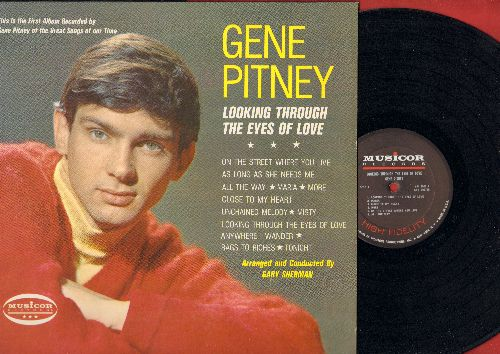 Pitney, Gene - Looking Through The Eyes Of Love: Unchained Melody, Misty, Tonight, Maria, More (Vinyl MONO LP record, NICE condition!) - VG7/EX8 - LP Records