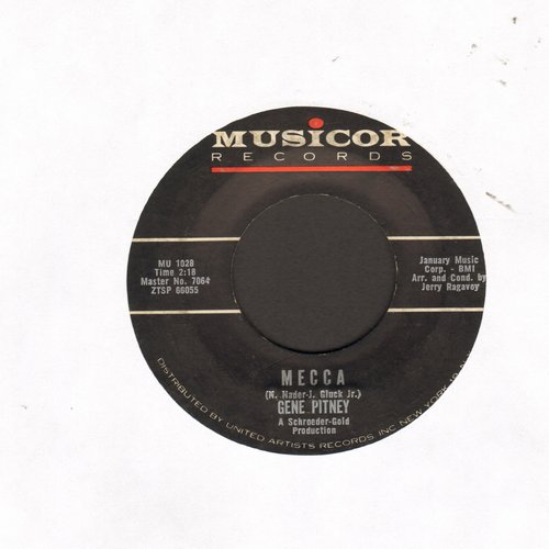 Pitney, Gene - Mecca/Teardrop By Teardrop  - VG7/ - 45 rpm Records