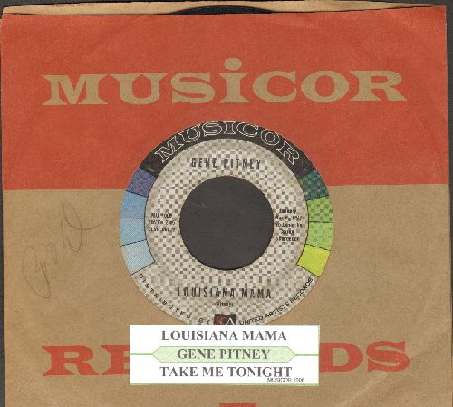Pitney, Gene - Louisiana Mama/Take Me Tonight (with juke box label and vintage Musicor company sleeve) - VG7/ - 45 rpm Records