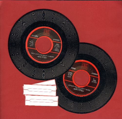 Pitney, Gene - Gene Pitney Double-Hit re-issue 45s, 2 for the price of 1! Includes Hits The Man Who Shot Liberty Valence/Only Love Can Break A Heart/Town Without Pity/24 Hours To Tulsa - EX8/ - 45 rpm Records