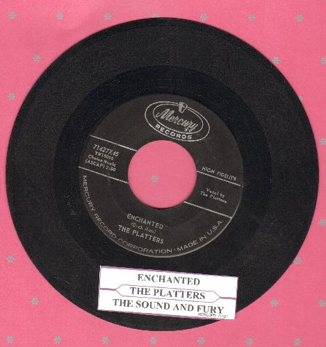 Platters - Enchanted (featured in series -Breaking Bad-)/The Sound And The Fury (with juke box label) - EX8/ - 45 rpm Records