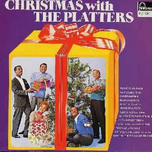 Platters - Christmas With The Platters: Jingle Bells Jingle, Christmas Time, Winter Wonderland, All I Want For Christmas Is My Two Front Teeth, Santa Claus Is Comin' To Town, Rudolph The Red-Nosed Reindeer (Vinyl STEREO LP record, 1970s German Pressing) -