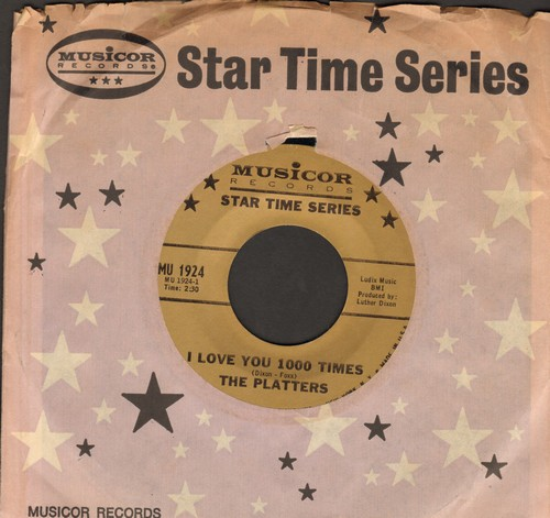 Platters - I Love You 1,000 Times/My Prayer (early re-issue with Musicor company sleeve) - NM9/ - 45 rpm Records
