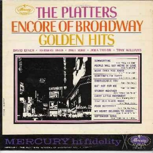 Platters - Encore Of Broadway Golden Hits: Summertime, People Will Say We're In Love, Stormy Weather, September Song, My Heart Belongs To Daddy (Vinyl LP record-MONO) - EX8/VG7 - LP Records