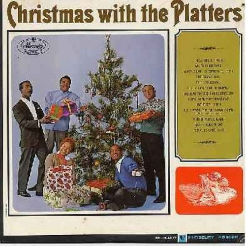 Platters - Christmas With The Platters: Jingle Bells Jingle, Christmas Time, Winter Wonderland, All I Want For Christmas Is My Two Front Teeth, Santa Claus Is Comin' To Town, Rudolph The Red-Nosed Reindeer (Vinyl MONO LP record) - EX8/EX8 - LP Records