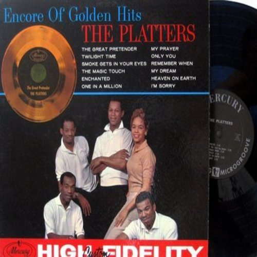 Platters - Encore Of Golden Hits: Twilight Time, Smoke Gets In Your Eyes, The Magic Touch, My Prayer, Only You, Enchanted (Vinyl MONO LP record) - EX8/NM9 - LP Records