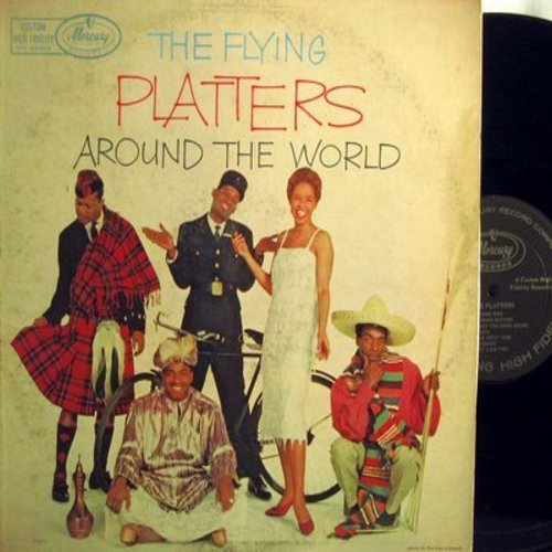 Platters - The Flying Platters: Darktown Strutters' Ball, In The Middle Of Nowhere, Only Because, No Power On Earth, Mean To Me, O Promise Me, Don't Forget (Vinyl MONO LP record) - EX8/VG7 - LP Records
