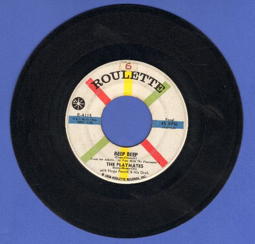 Playmates - Beep Beep/Your Love  - VG7/ - 45 rpm Records