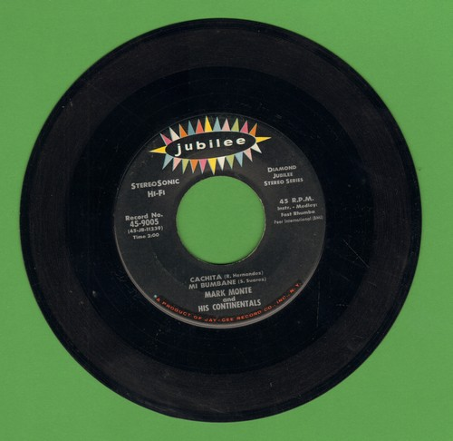Monte, Mark & His Continentals - Adele/Wham! (There I Go In Love Again)/Cachita Mi Bumbane (RARE STEREO pressing) - NM9/ - 45 rpm Records
