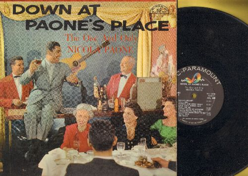 Paone, Nicola - Down At Paone's Place: Poor Man's Polka, La Bella Brigida, Uncle Nick, Nobody Loves Me Anymore (Nessuno Vuol Piu Bene A me) (Vinyl MONO LP record, sung in English and Italian) - EX8/EX8 - LP Records