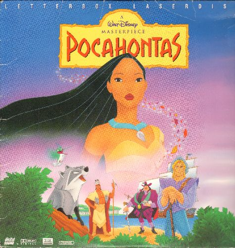 Disney - Pocahontas - LASERDISC version of the Disney Classic, Letterbox Format. - NM9/EX8 - LaserDiscs