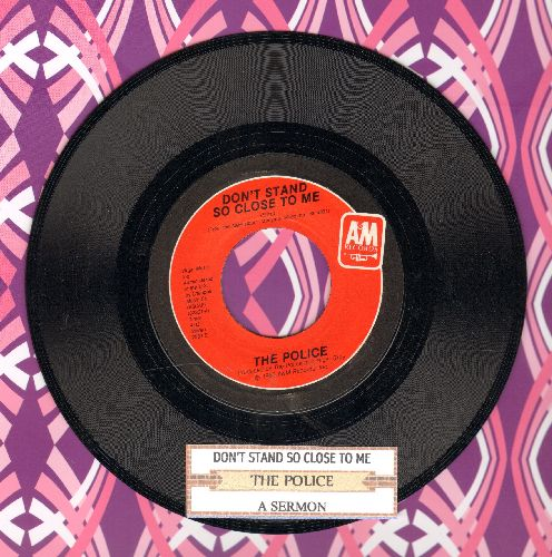 Police - Don't Stand So Close To Me '86/A Sermon (with juke box label) - EX8/ - 45 rpm Records