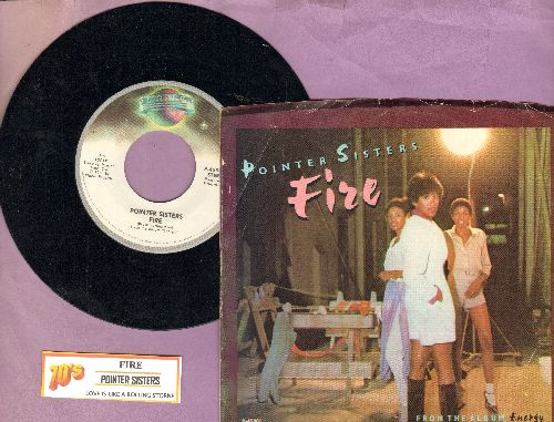 Pointer Sisters - Fire/Love Is Like A Rolling Stone (with Picture sleeve and juke box label) - NM9/EX8 - 45 rpm Records