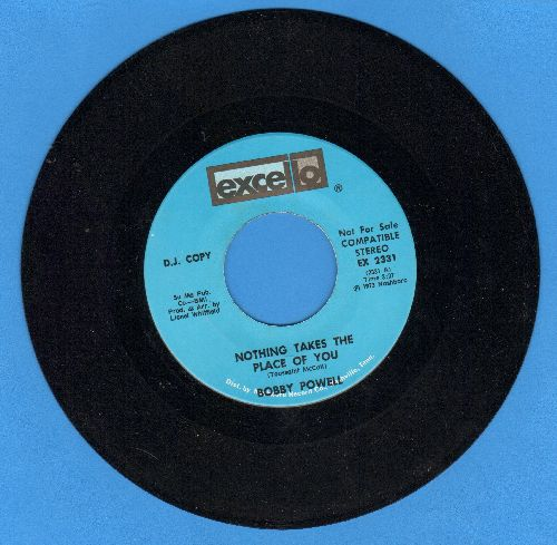Powell, Bobby - Nothing Takes The Place Of You (double-A-sided DJ advance pressing) - NM9/ - 45 rpm Records