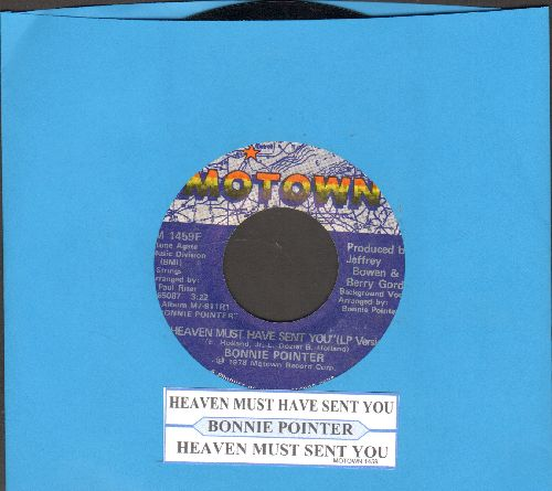 Pointer, Bonnie - Heaven Must Have Sent You (2 different versions, with juke box label) - VG7/ - 45 rpm Records