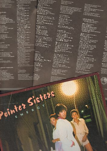 Pointer Sisters - Energy: Fire, Everybody Is A Star, Come And Get Your Love, Lay It On The Line (vinyl STEREO LP record, with BONUS lyric sheet pages!) - M10/NM9 - LP Records
