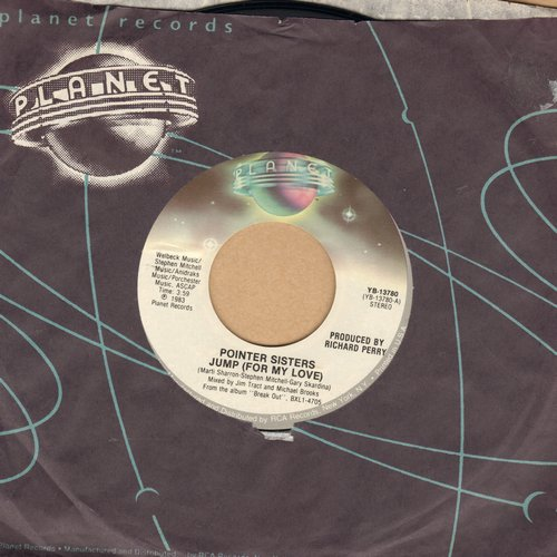 Pointer Sisters - Jump (For Your Love)/Heart Beat (with Planet company sleeve) - M10/ - 45 rpm Records