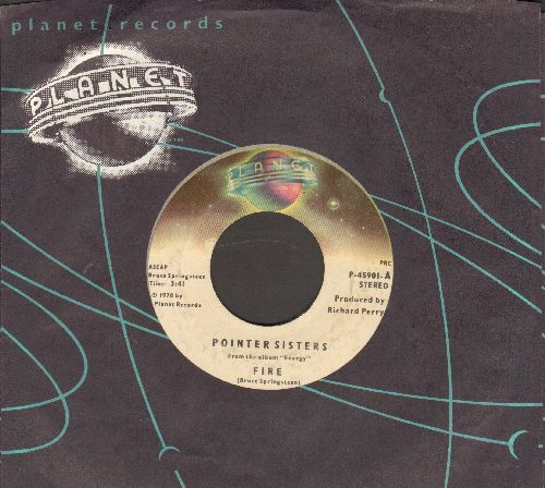 Pointer Sisters - Fire/Love Is Like A Rolling Stone (RARE alternate flip-side!) (with Planet company sleeve) - VG7/ - 45 rpm Records