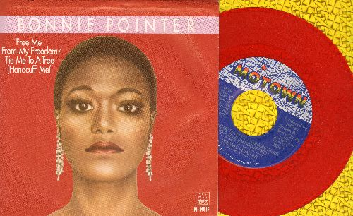 Pointer, Bonnie - Free Me From My Freedom/Tie Me To A Tree (Handcuff Me) - RARE red label double-A-sided promo pressing with picture sleeve) - NM9/EX8 - 45 rpm Records