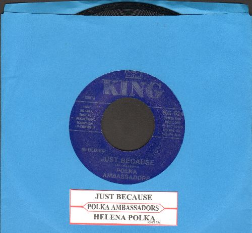Polka Ambassadors - Just Because/Helena Polka (double-hit re-issue with juke box label) - NM9/ - 45 rpm Records