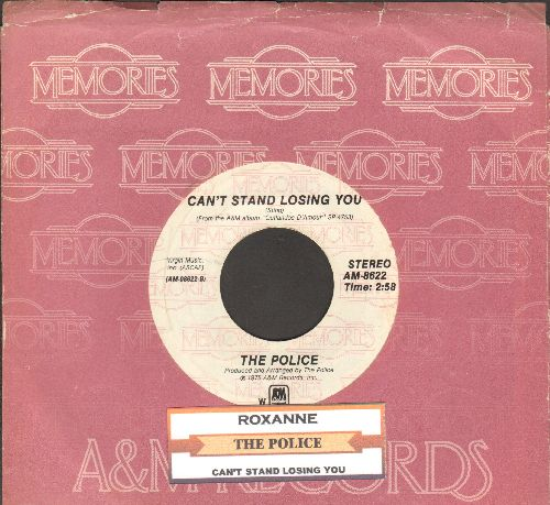 Police - Roxanne/Can't Stand Losing You (double-hit re-issue with juke box label and company sleeve) - EX8/ - 45 rpm Records