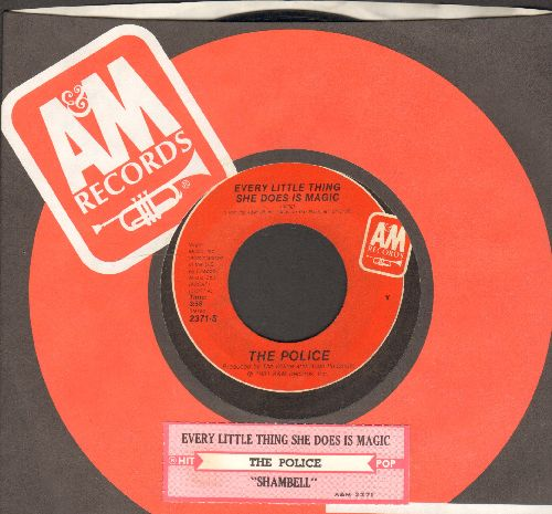 Police - Every Little Thing She Does Is Magic/Shambelle (with juke box label and company sleeve) - NM9/ - 45 rpm Records