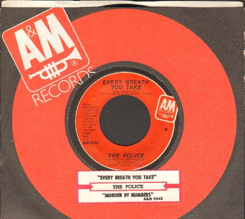 Police - Every Breath You Take/Murder By Number (with juke box label and company sleeve) - EX8/ - 45 rpm Records