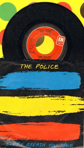 Police - Every Breath You Take/Murder By Number (with picture sleeve) - EX8/EX8 - 45 rpm Records