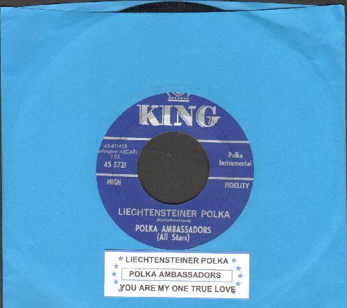 Polka Ambassadors (All Stars) - Liechtensteiner Polka/You Are My One True Love (with juke box label) - EX8/ - 45 rpm Records