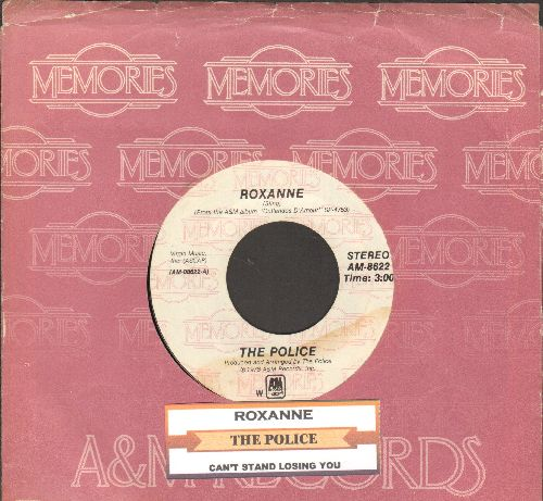 Police - Roxanne/Can't Stand Losing You (double-hit re-issue with juke box label and company sleeve) - NM9/ - 45 rpm Records