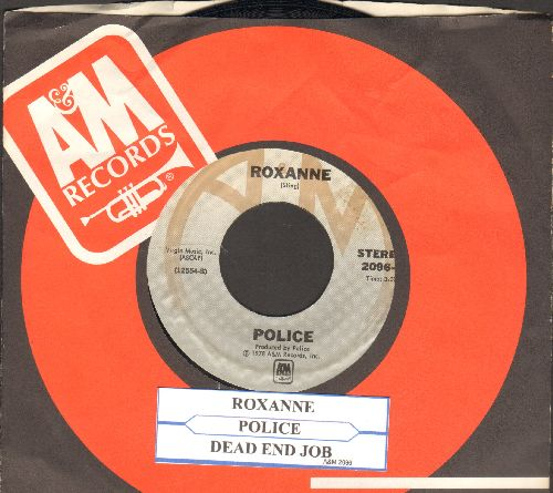 Police - Roxanne/Dead End Job (with juke box label and company sleeve) - NM9/ - 45 rpm Records