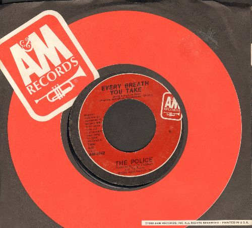 Police - Every Breath You Take/Murder By Number (with A&M company sleeve) - NM9/ - 45 rpm Records