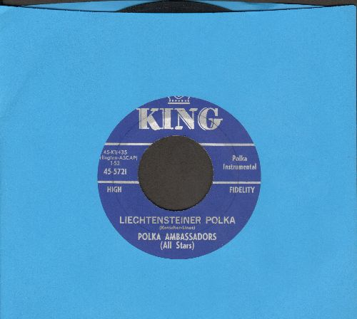 Polka Ambassadors (All Stars) - Liechtensteiner Polka/You Are My One True Love - EX8/ - 45 rpm Records
