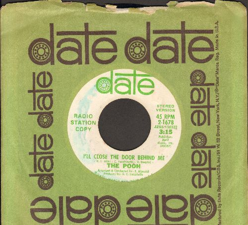 Pooh - I'll Close The Dor Behind Me (double-A-sided DJ advance pressing with MONO ans STEREO version, with vintage Date company sleeve) - EX8/ - 45 rpm Records