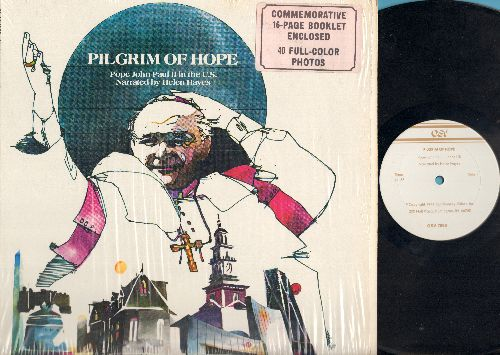 Hayes, Helen - Pilgrim Of Hope-Pope John Paul II In The U.S (Vinyl LP Record with book) - NM9/M10 - LP Records