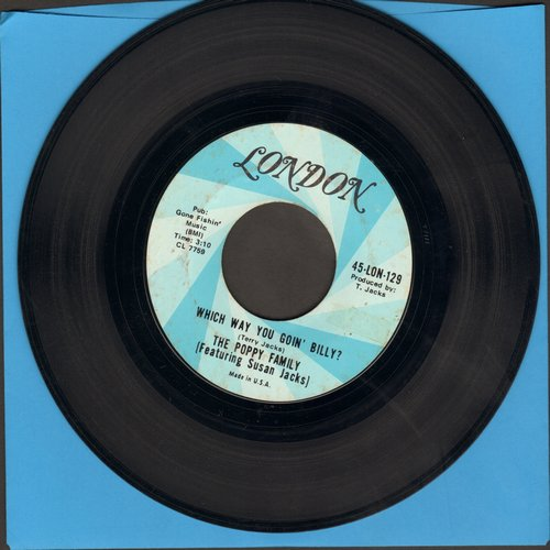 Poppy Family - Which Way You Goin' Billy? (Can I Go Too?)/Endless Sleep  - EX8/ - 45 rpm Records