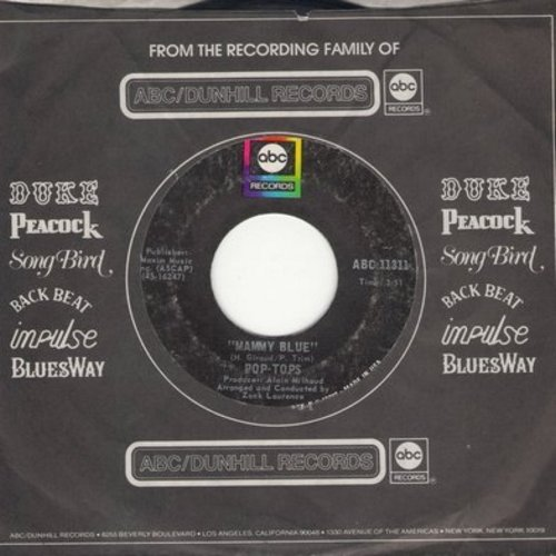Pop-Tops - Mammy Blue/Road To Freedom (with ABC company sleeve) - NM9/ - 45 rpm Records