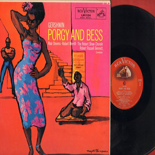 Porgy And Bess - Porgy And Bess - Gershwin's Classic Musical starring Rise Stevens, Robert Merrill, Robert Shaw Chorale conducted by Robert Russell Bennett (Vinyl MONO LP record, RARE Red Seal pressing!) - M10/NM9 - LP Records