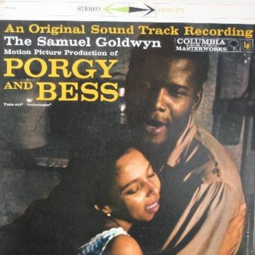 Poitier, Sydney, Dorothy Dandridge, Sammy Davis Jr., Pearl Baley, others - Porgy And Bess: (Reissue) Original Motion Picture Sound Track (Vinyl STEREO LP record, 1980s issue of vinatge recordings) - Summertime, I Got Plenty O'Nothin', I Loves You Porgy -