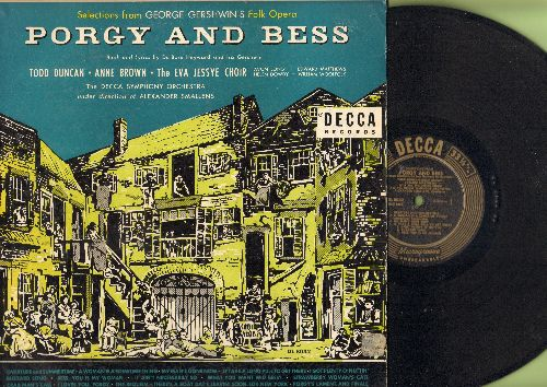 Porgy And Bess - Selections from George Gershwin's Folk Opera Porgy And Bess starring Todd Duncan, Anne Brown (Vinyl Microgroove LP record) - NM9/VG7 - LP Records