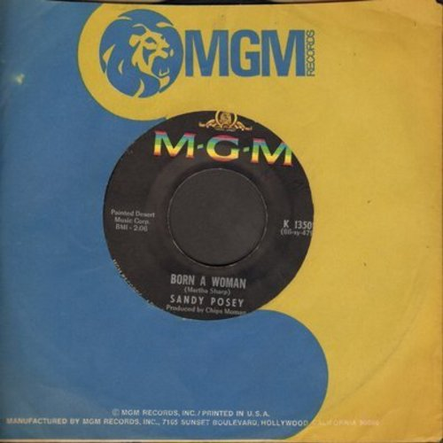 Posey, Sandy - Born A Woman/Caution To The Wind - NM9/ - 45 rpm Records