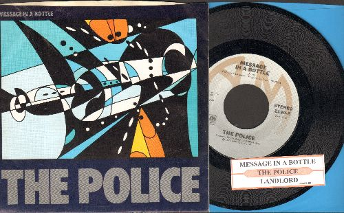 Police - Message In A Bottle/Landlord (with juke box lbel and company sleeve) - NM9/EX8 - 45 rpm Records