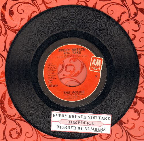 Police - Every Breath You Take/Murder By Number (with juke box label) - NM9/ - 45 rpm Records