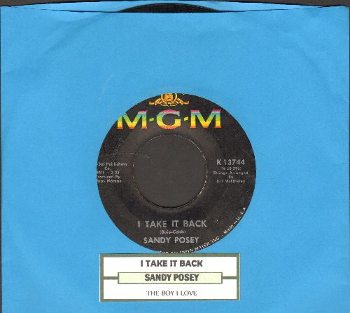 Posey, Sandy - I Take It Back/The Boy I Love (with juke box label) - EX8/ - 45 rpm Records