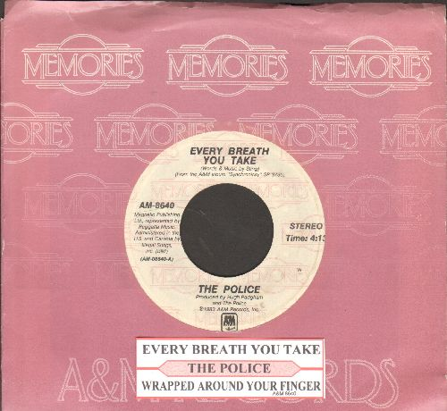 Police - Every Breath You Take/Wrapped Around Your Finger (double-hit re-issue with juke box label and company sleeve) - EX8/ - 45 rpm Records