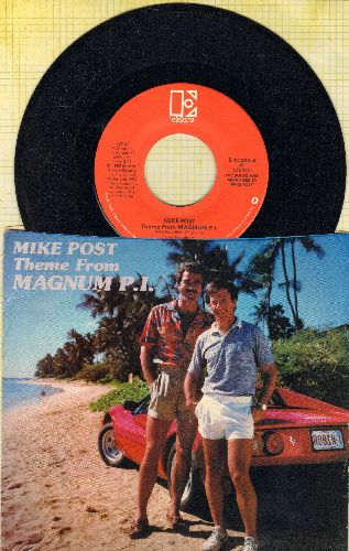 Post, Mike - Theme From Magnum P.I./Gumbus Red (with picture sleeve) - NM9/EX8 - 45 rpm Records