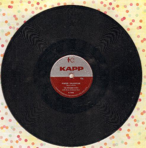 Crackerjacks - Paper Valentine/Kiss Crazy Baby (10 inch 78 rpm record) - VG7/ - 78 rpm