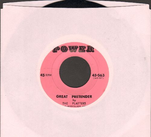 Platters - Great Pretender/On My Word Of Honoe (early re-issue) - NM9/ - 45 rpm Records