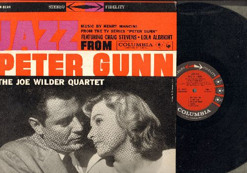Wilder, Joe Quartet - Jazz From Peter Gunn - Music by Henry Mancini from TV Series starring Craig Stevens and Lola Albright (vinyl STEREO LP record, 1959 first pressing) - EX8/NM9 - LP Records